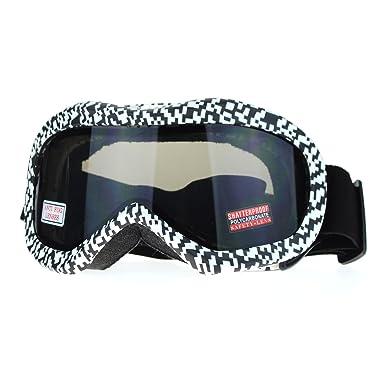 3dfa3da311e4 Ski Snowboard Goggles Anti Fog Shatter Proof Black Lens Digital Pixel Print