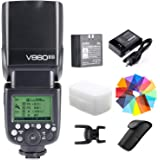 Godox V860II-S Kit HSS 1/8000s GN60 2.4G TTL 1.5s Recycle Time Li-ion Battery Camera Flash Speedlite Light Compatible for Son