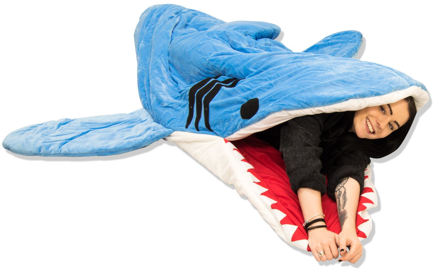 Andes Childrens Adult Luxury Animal Sleeping Bag Sleepover Party Camping Hiking Shark Small Amazoncouk Sports Outdoors