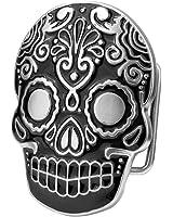 Aztec Skull Black Belt Buckle