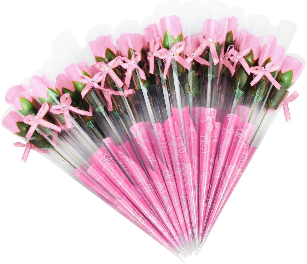 Weiye - 38 pcs de jabón rosa de flores - flora aromática jabón de flor de rosa - jabón de aceite esencial de planta, regalo para aniversario/cumpleaños/boda/día de San Valentín