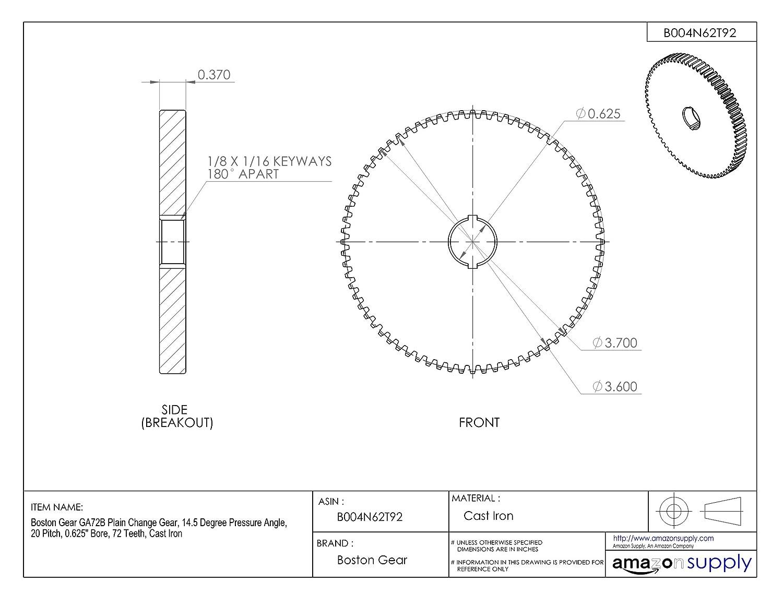 Plate wheel KRL without hub 20 B-1 1 1//4x3//4 38 teeth material steel