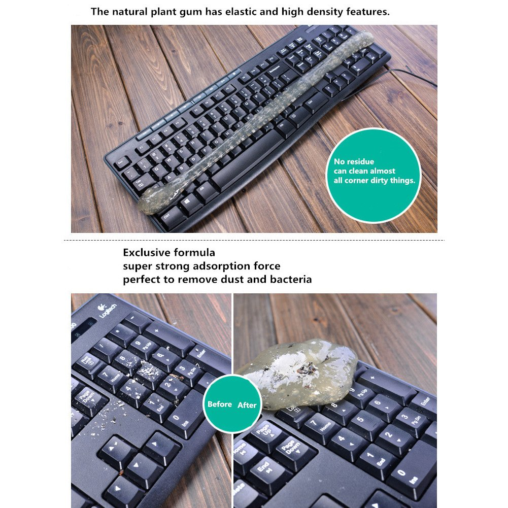 ieGeek Magic PC Laptop Computer Keyboard Cleaner Set (4 Pack + Storage Box) - Super Keyboard Cleaning Silica Gel Gummy Cleaners for Electronics by ieGeek (Image #4)