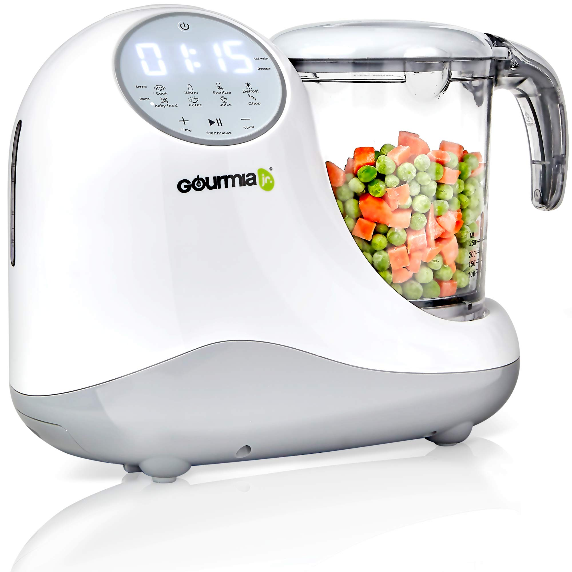 Gourmia Jr. 5-in-1 Baby Food Processor, 3 Tier Steaming,3 Blending Modes, Large Touch Display, JFP300, ETL-Certified by Gourmia (Image #1)