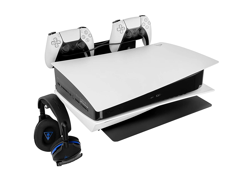 Borangame Wandhalterung Spielkonsolentisch Für Playstation Ps4 Erste Serie Slim Pro Ps5 Alle Modelle Xbox One S One 360 Horizontale Ständer Controllerhalterung Und Headset Halterung Games