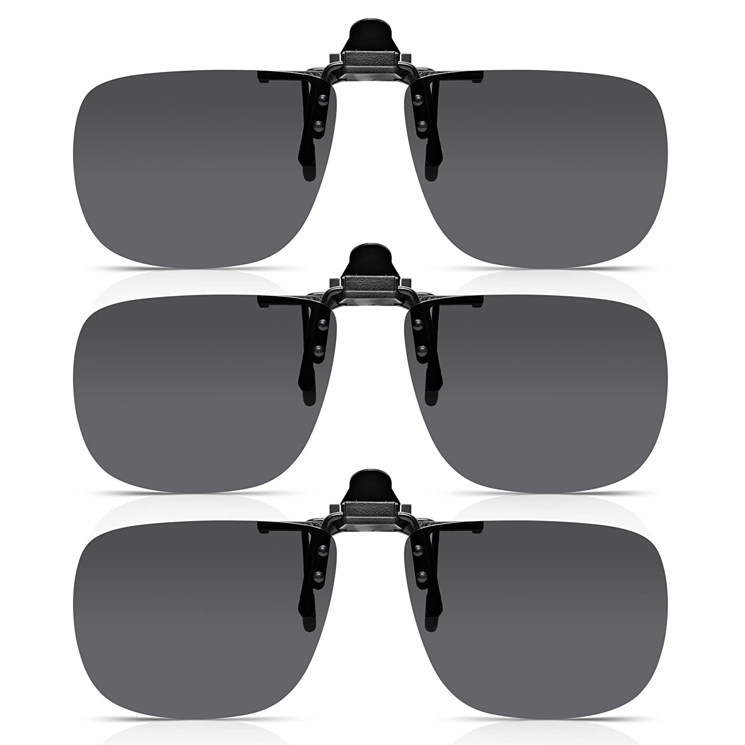Read Optics x3 Pack de Clip-On Sunglasses: Gafas de Sol con Flip-Up para Gafas Graduadas de Hombre y Mujer. Lentes Polarizadas UV400 Protección 100% UV - en ...