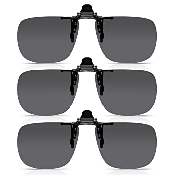 Read Optics x3 Pack de Clip-On Sunglasses: Gafas de Sol con Flip-