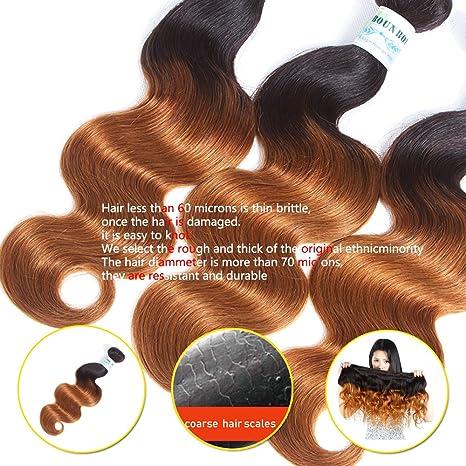 3pcs Short Bob Bundles Ombre Black Half Honey Blonde Copper Resistant Heat  Ocean Body Wave