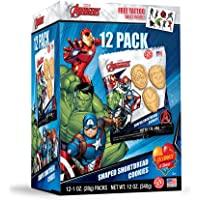 Marvel Avengers Shortbread Cookies with Tattoo Sheet 12pk