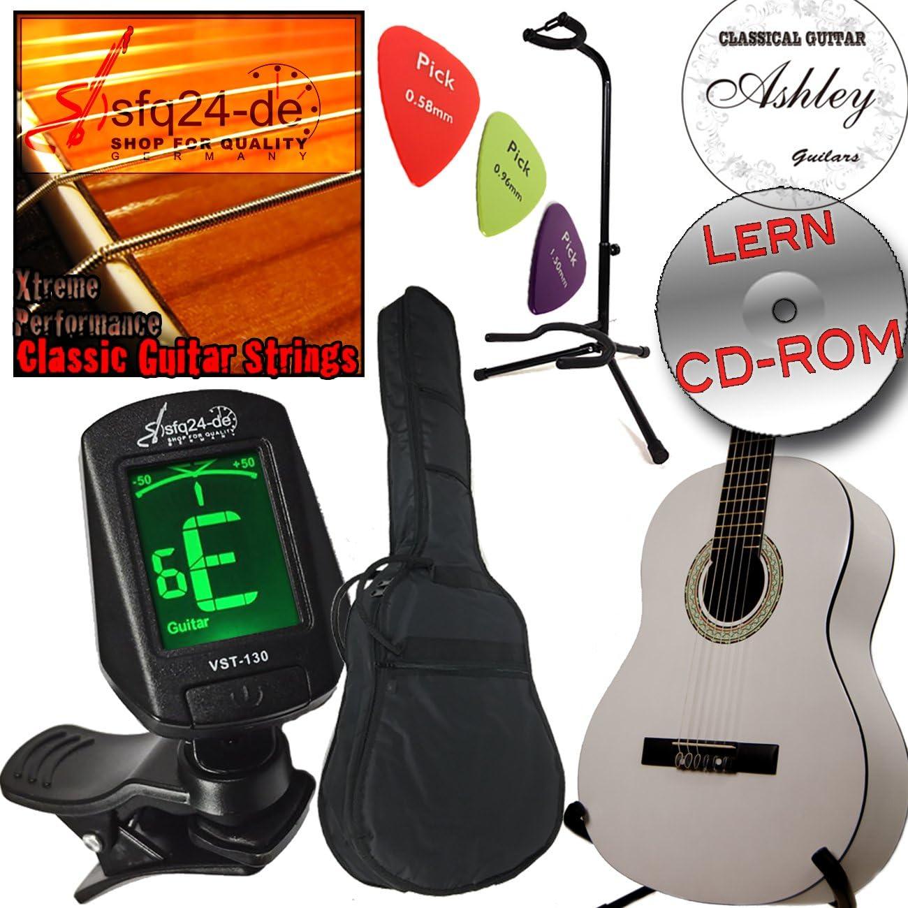 Set Ashley guitarra clásica Origine, Classic White – Blanco + ...