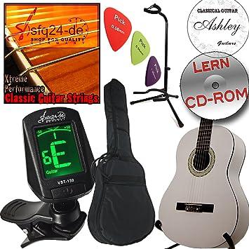 Set Ashley guitarra clásica Origine, Classic White - Blanco + ...