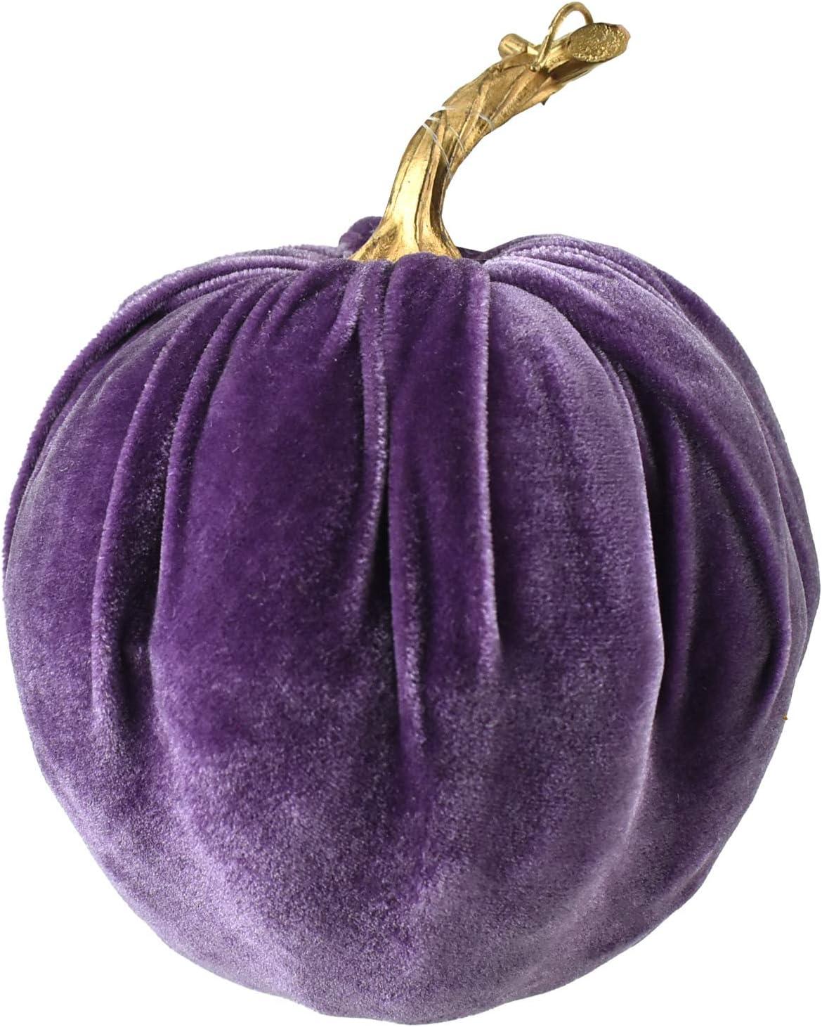 Homeford Velvet Pumpkin Centerpiece Decoration, Purple, 7-Inch