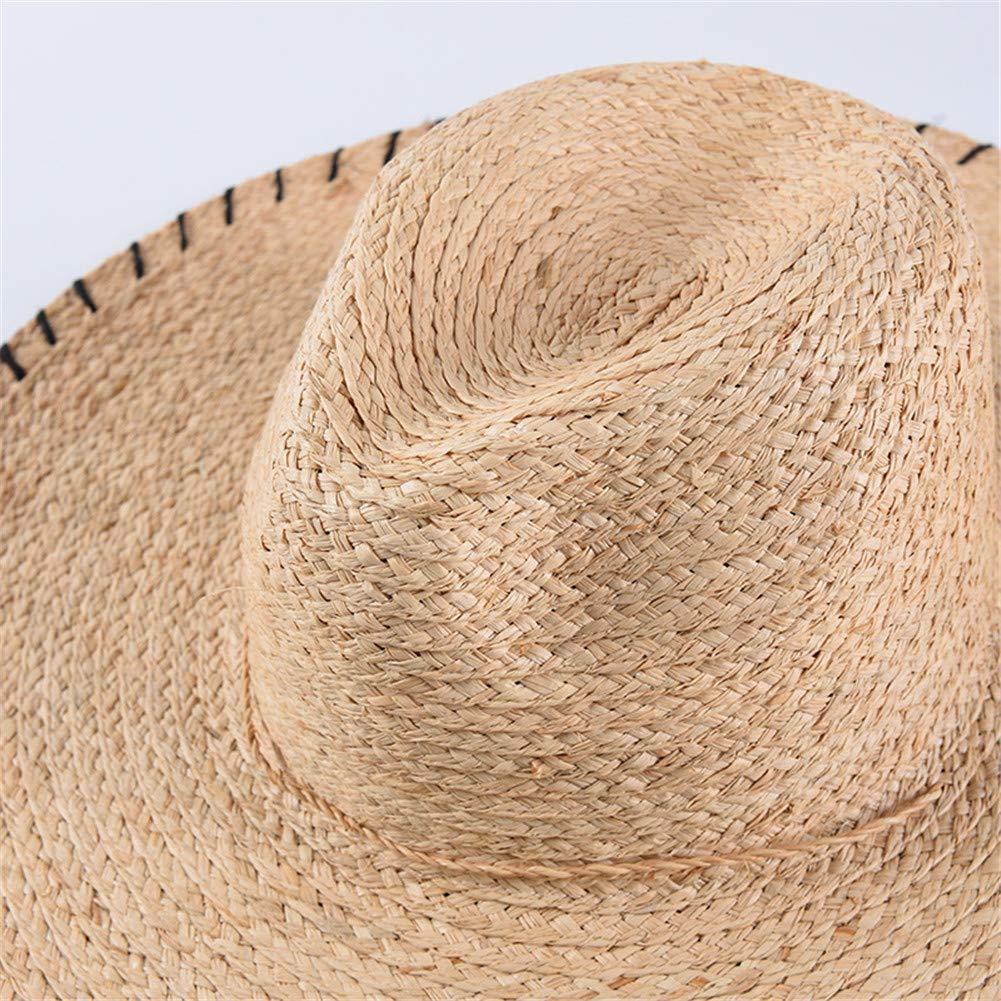 Damen Sonnenh/üte Strand Hat Strohhut Breite Krempe Stroh Outdoor Sport Hut Anti UV