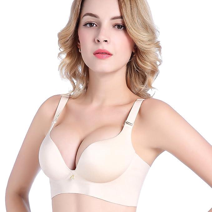 WJPT Sujetador de Media Copa Push Up para Mujeres Sin Aros sin Costuras: Amazon.es: Ropa y accesorios