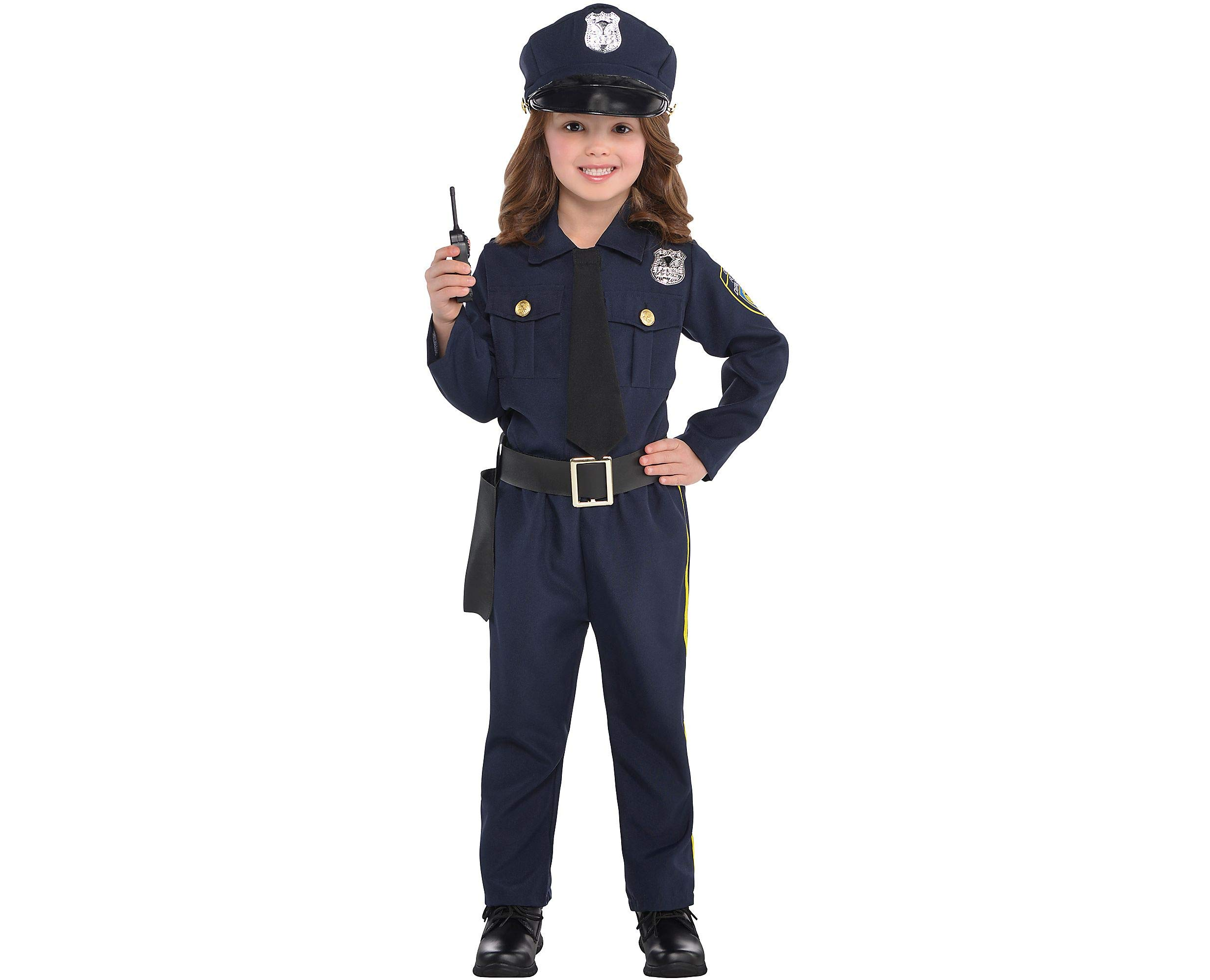 AMSCAN Classic Police Officer Halloween Costume for Girls, Small, with Included Accessories
