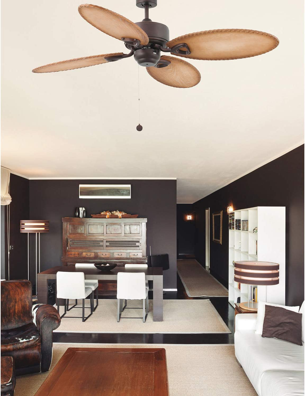 Faro Barcelona 33019 - LOMBOK Ventilador de techo con luz, 60W ...