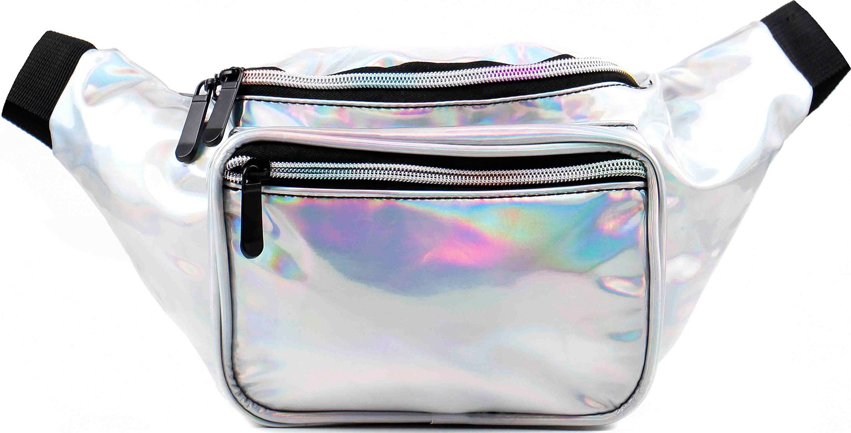 SoJourner Bags Fanny Pack - Silver Holographic