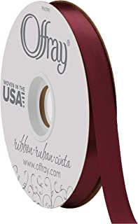product image for Double Face Satin Ribbon, 50 Yards, Burgundy