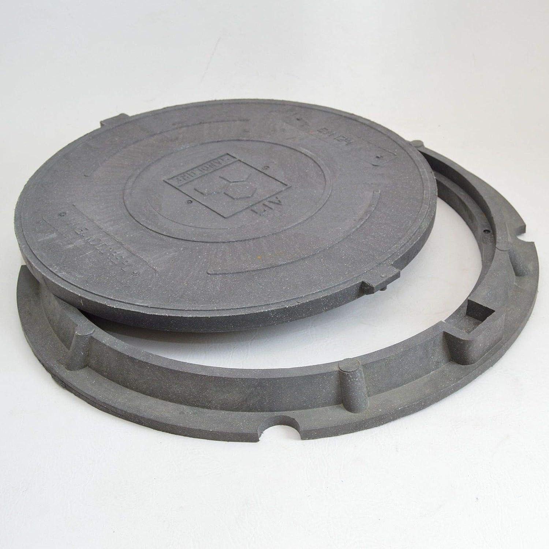 Profi Aluminium Schachtabdeckung DN600 mit Flanschrahmen 1,5T Schachtdeckel A15