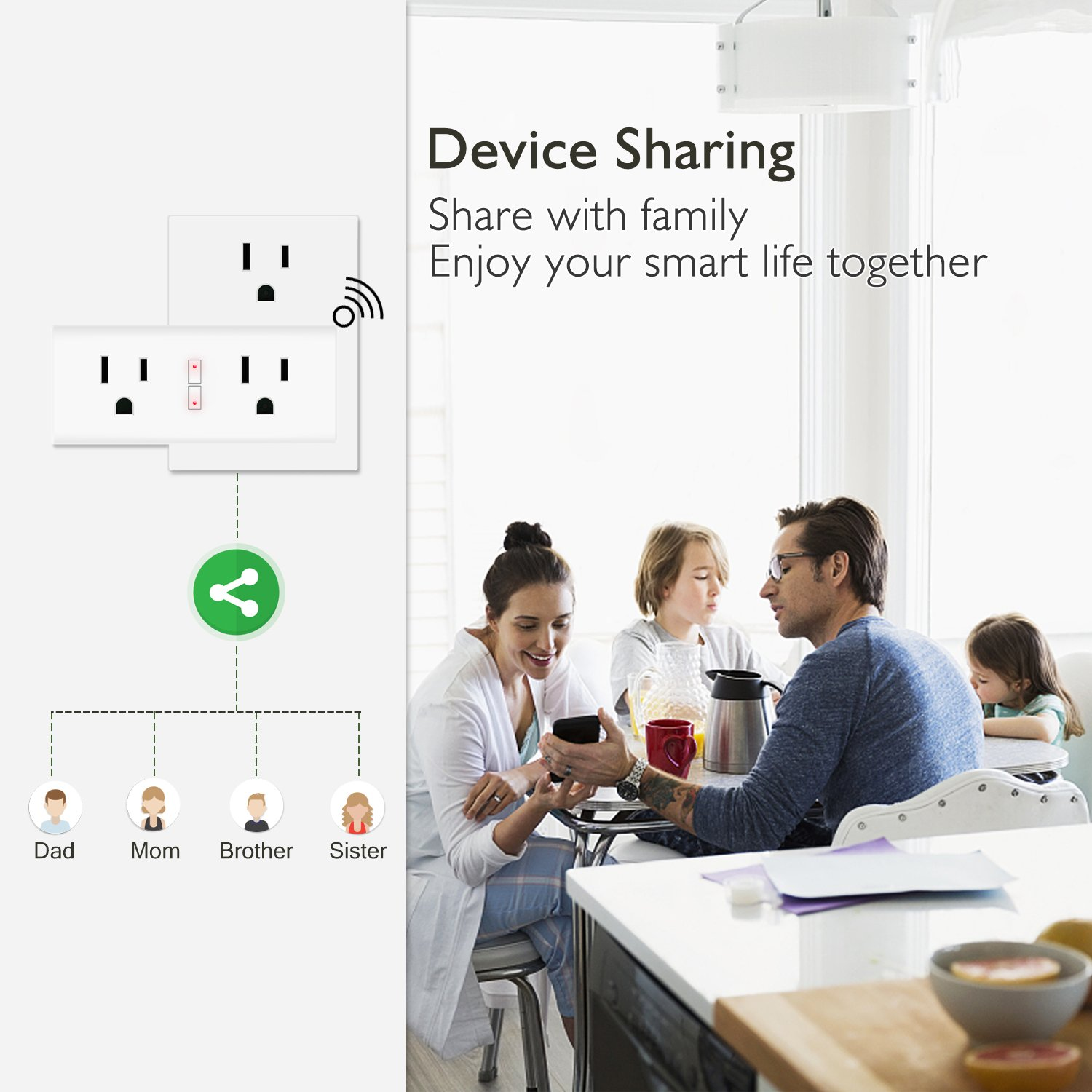 Anbes Wi-Fi Smart Plug Mini Outlet with Energy Monitoring, Alexa Plug Smart Socket Compatible with Alexa and Google Home, Timing Function, Dual Outlets Work Individually or in Groups (2 Pack) by Anbes WP6 (Image #8)