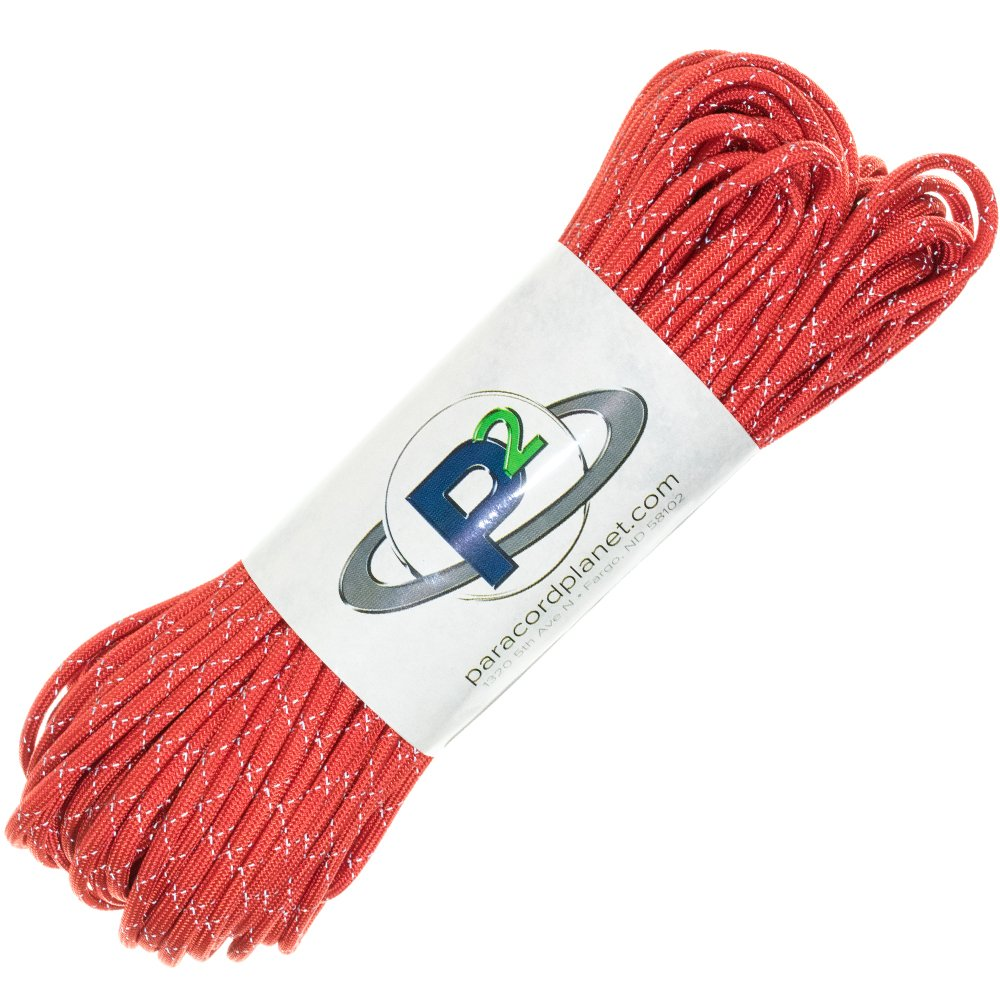 2 Bright Retro-Reflective Tracers for the Best in High-Visibility Cord Paracord Planet 700lb Criss Cross Double-Reflective Paracord 100/% Nylon Cord is Made in the USA