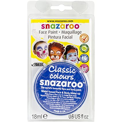 Reeves Snazaroo Face Paint, 18ml, Sky Blue