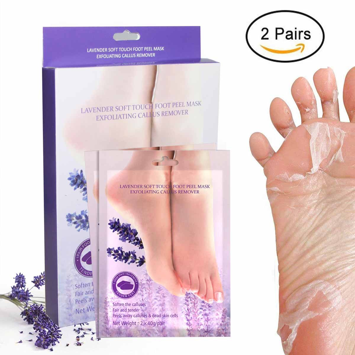 Youmeet Foot Peel, Foot Peeling Mask, Foot Mask, Baby Feet Foot Peel - Lavender Scented Exfoliating Foot Socks, Natural Exfoliator for Dry Dead Skin and Calluses, Baby Your Foot in One Week, for Men & Women YMTECH YFM-1