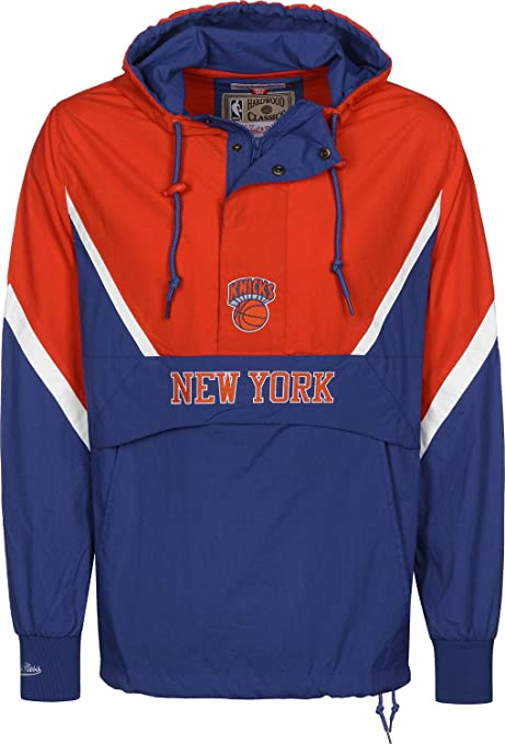 Mitchell Ness New York Knicks Half Zip Anorak Jacket S Amazon Co Uk Sports Outdoors