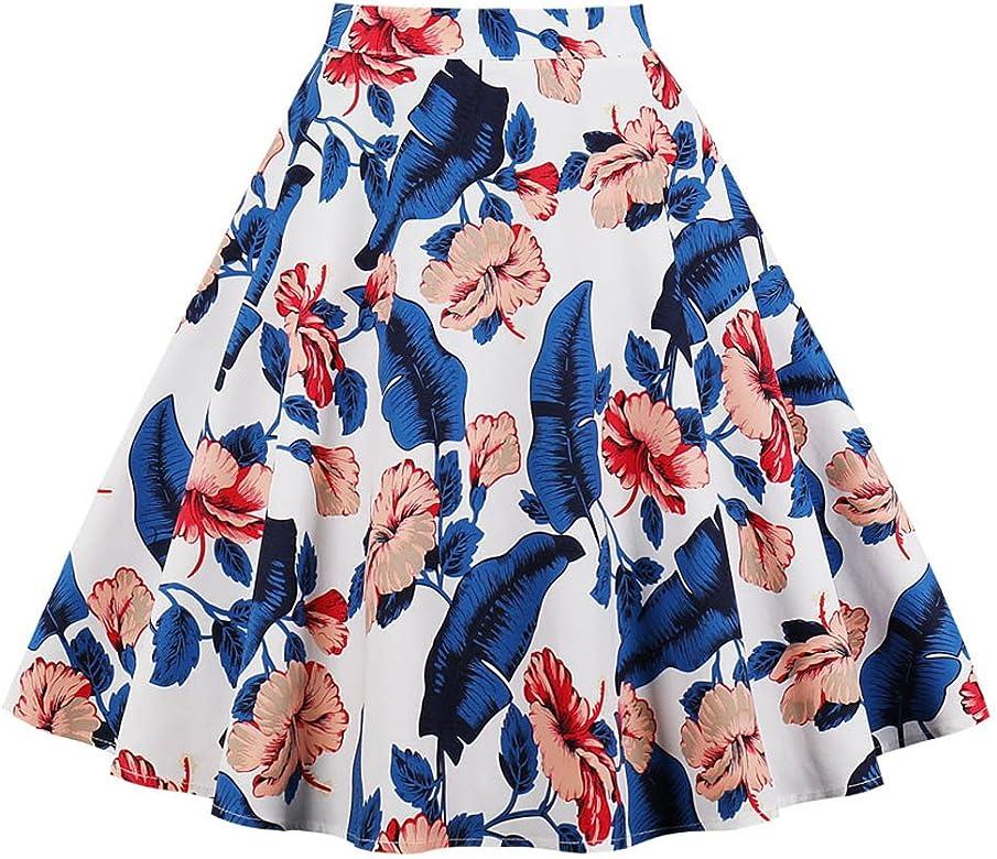 Faldas De Mujer Una Linea De Falda Midi Vintage Floral Y Animal ...