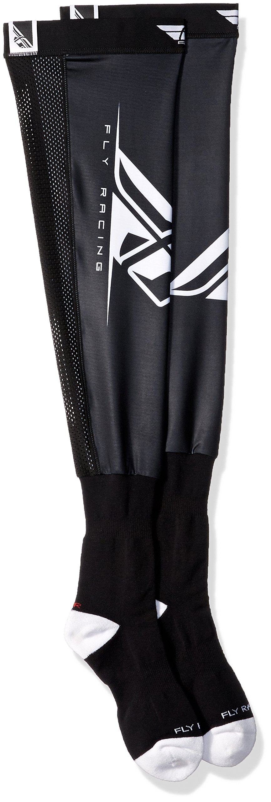 Fly Racing 350-0440L Unisex-Adult Knee Brace Socks (Black/White, Large/X-Large)