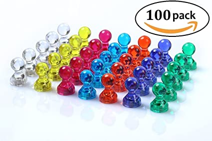 48 assorted color magnetic map pins push pins perfect for maps