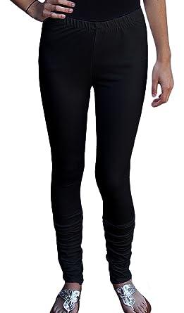 d0aa554b04b Ayurvastram Women s Cotton Spandex Stretchable Jersey Extra Long Leggings   Black  XSmall