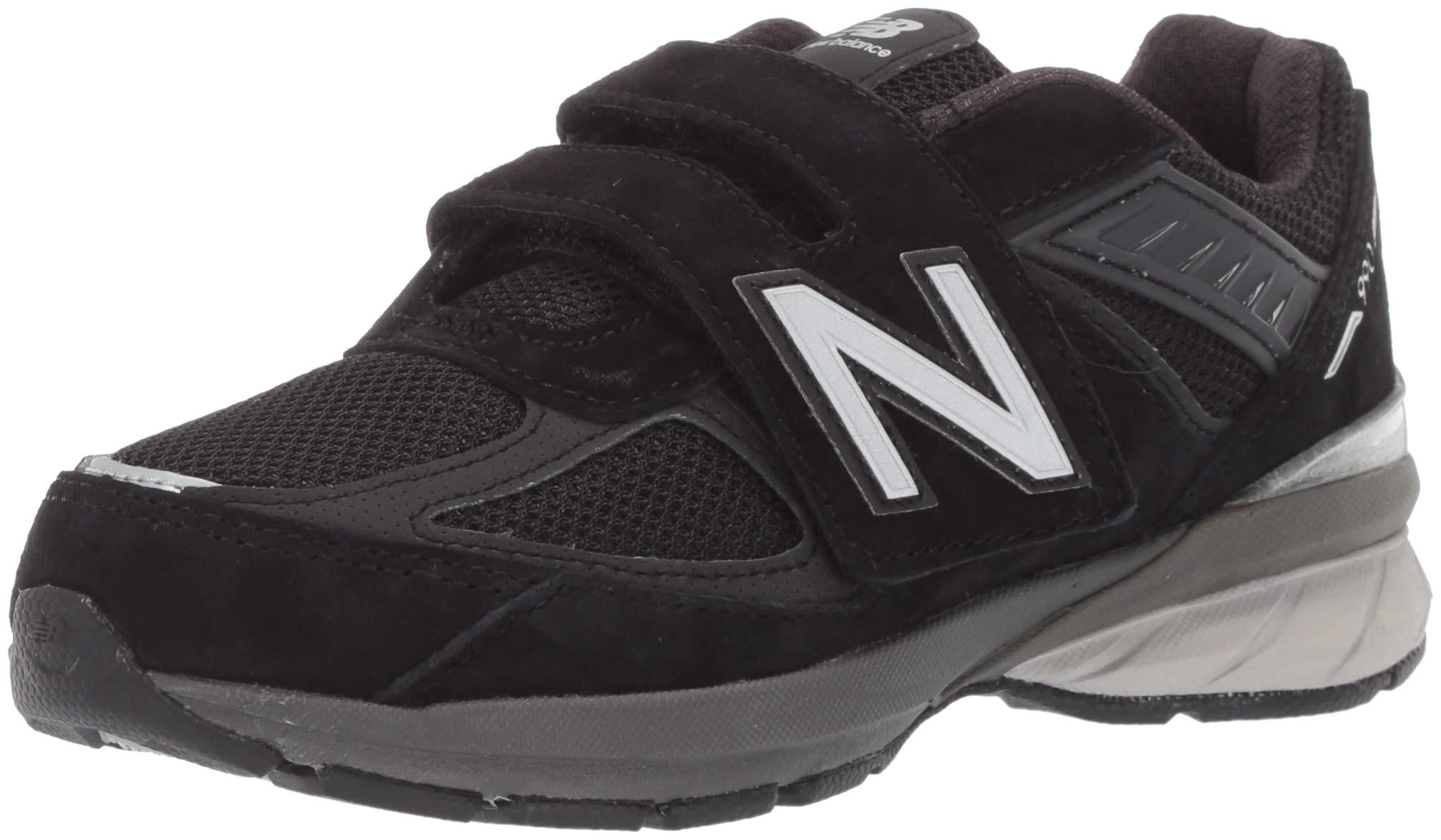 New Balance Boys' 990v5 Running Shoe, black/black, 2 XW US Little Kid by New Balance