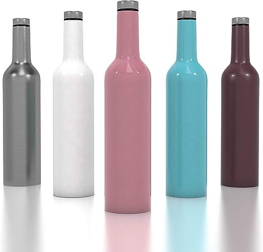 Amazon.com: Botella de vino de acero inoxidable, botella de ...