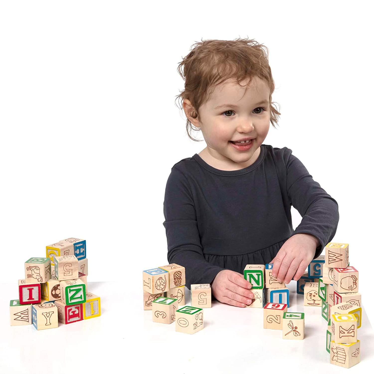 B000067NXE Melissa & Doug Deluxe Wooden ABC/123 Blocks Set (Developmental Toys, Storage Pouch, 1-Inch Wooden Blocks, 50 Pieces, Great Gift for Girls and Boys - Best for 2, 3, and 4 Year Olds) 71dfw-MGdiL