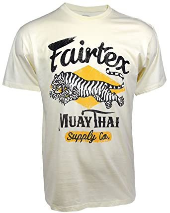 6cb802ced Amazon.com  Fairtex Tiger T-Shirt Vanilla  Clothing