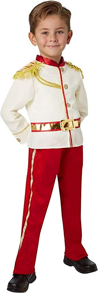 YuDanae Charming Prince Medieval Royal Prince Outfit Christmas Costume for Kids Boys Girls Aged 2-10