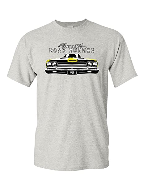 0d9d7009b Plymouth Road Runner 1969 T-Shirt Route 66 American Made Classic Mens Tee  Shirt Ash