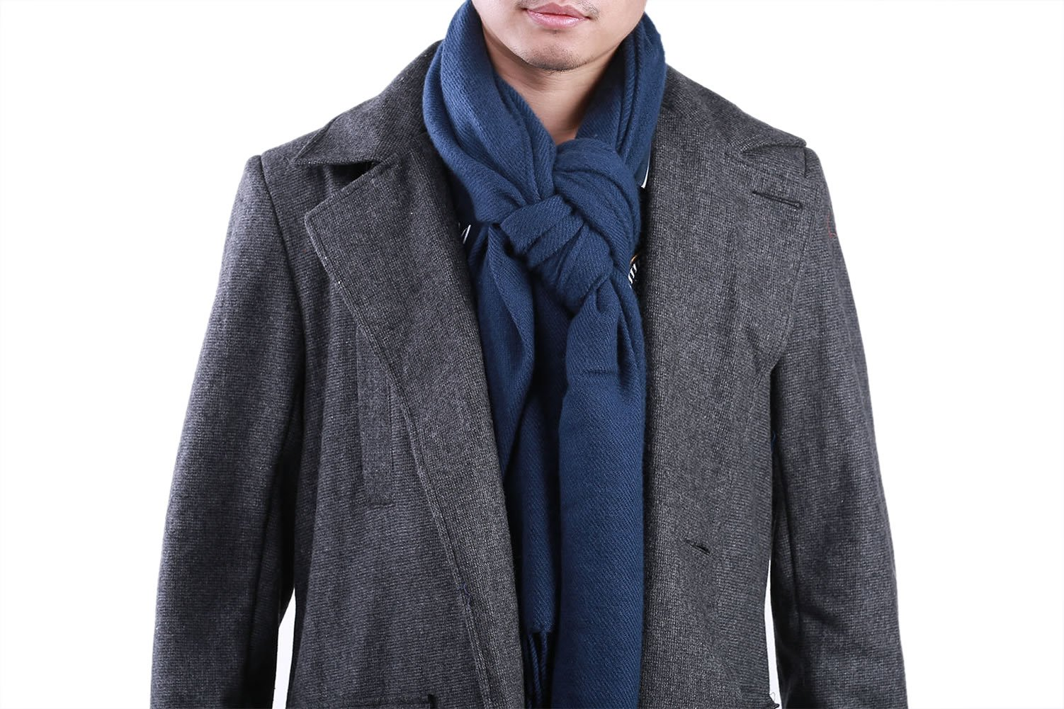 Sherlock Coat Woolen Trench Jacket Male Costume with Scarf M by Lightway (Image #2)