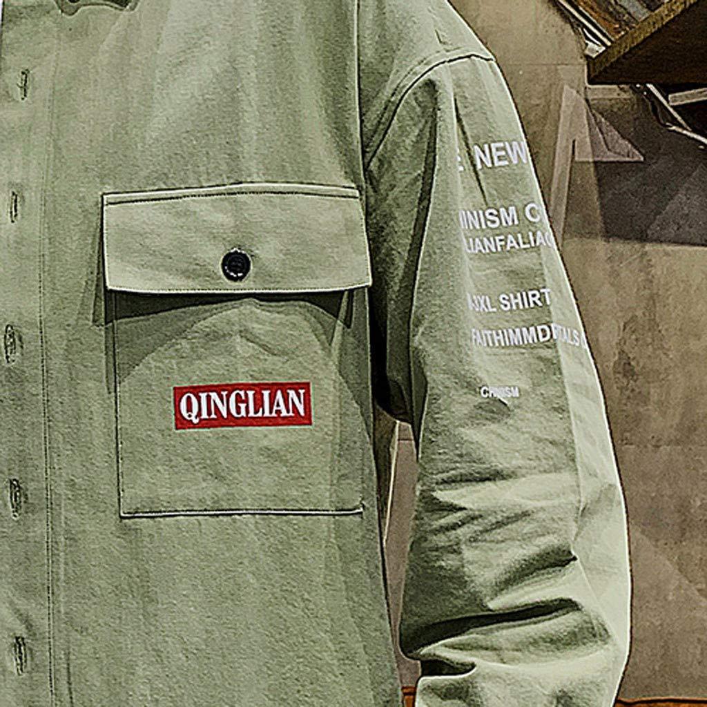 Chemise Homme Slim Fit Repassage Facile Manches Longues Double Bouton de poche Imprim/é Lettre Basic Business Loisirs Coupe Parfaite Workwear V/êtements Travail Automne /Ét/é Shirt Top