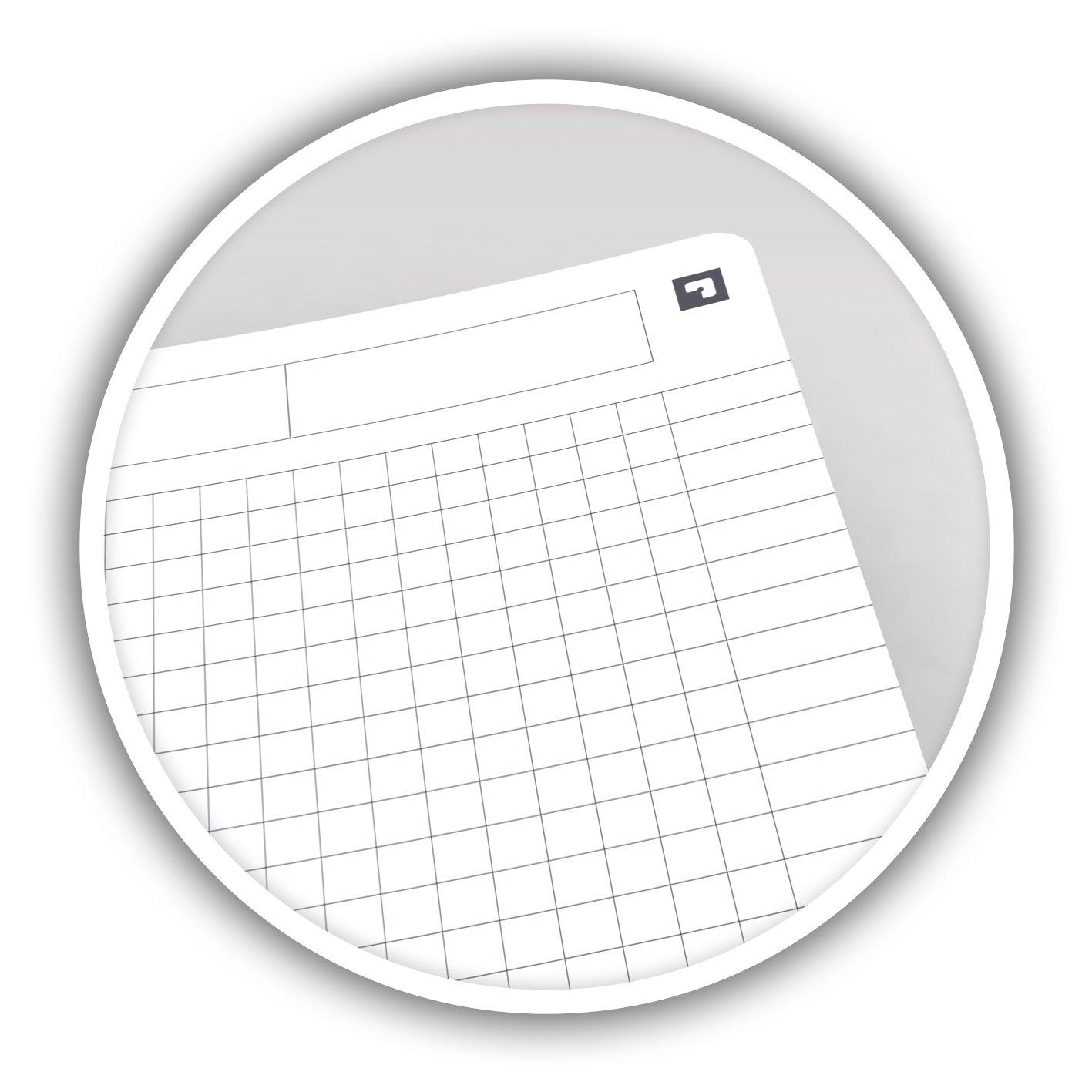 Lote de 10 cuadernos de espiral A5 14,8 x 21 cm, cuadr/ícula grande, varios colores Oxford Essentials