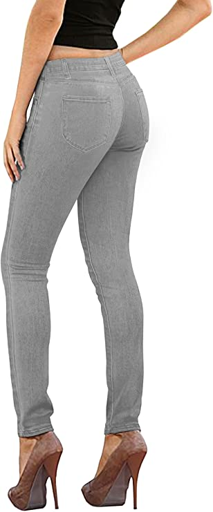 Hybrid & Company Womens Super Comfy Stretch Denim 5 Pockets Jeans at Amazon Women