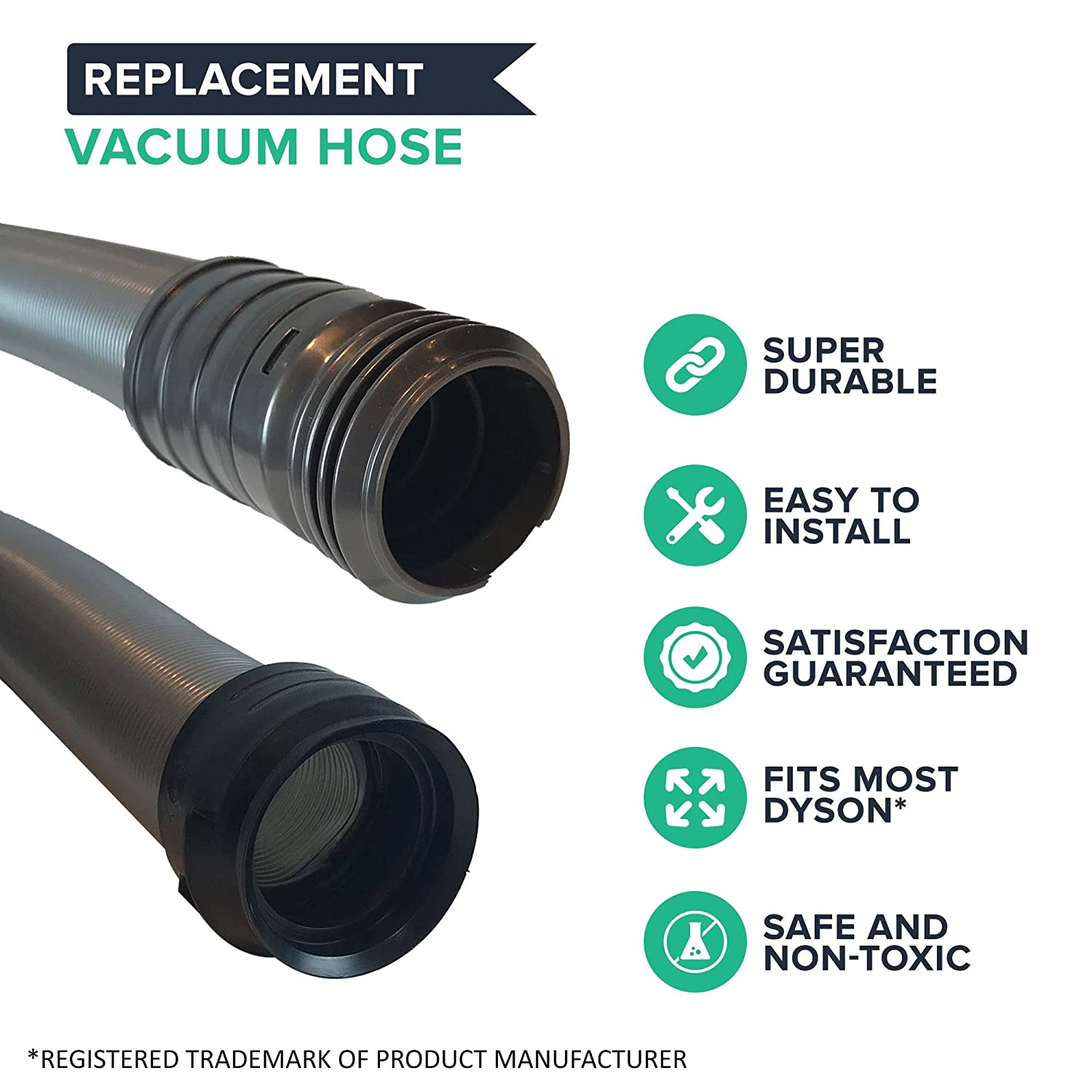 Amazon.com - Replacement for Dyson DC17 Hose, Compatible With Part #  911645-07, 911645-02, 911645-04 & 911645-05, by Think Crucial - Household  Vacuum Hoses