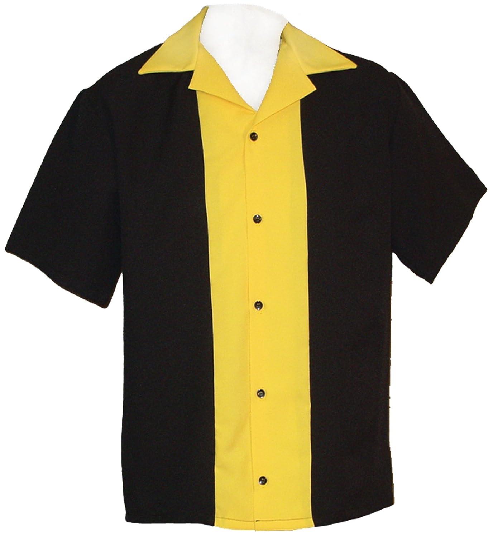 Amazon Mens Retro Bowling Shirt 50s Style Classic 57 Mens