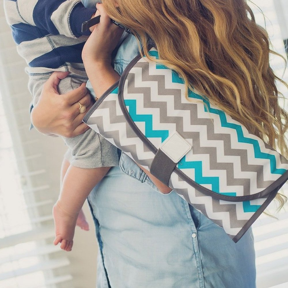 Wocharm Portable 3-in-1 Babies Diaper Clean Changing Pad Waterproof Travel Mats Triangle