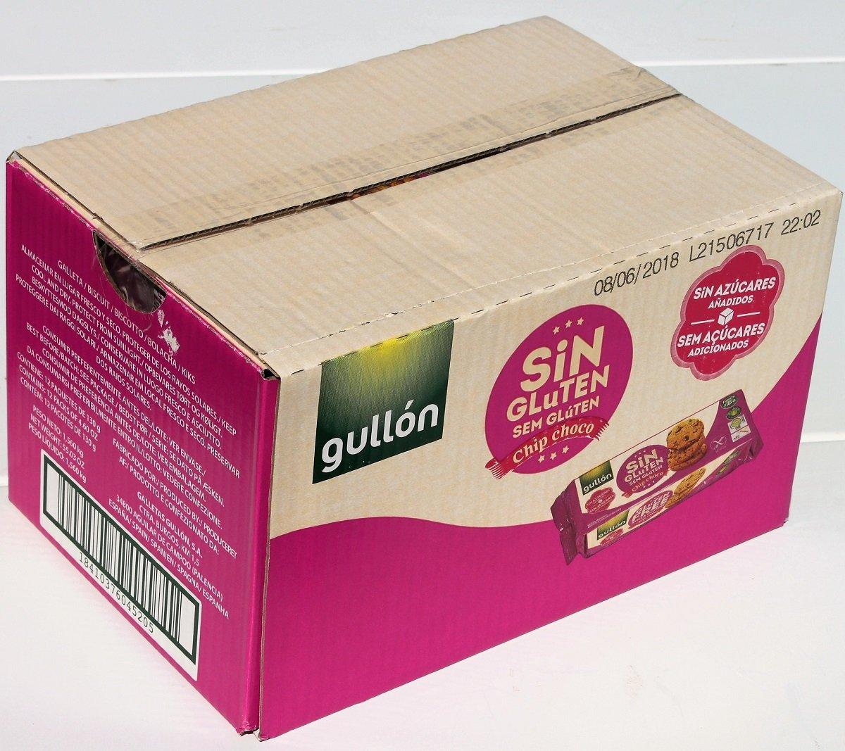 Gullón Chip Choco Galletas Sin Gluten Y Sin Azúcar Paquete ...