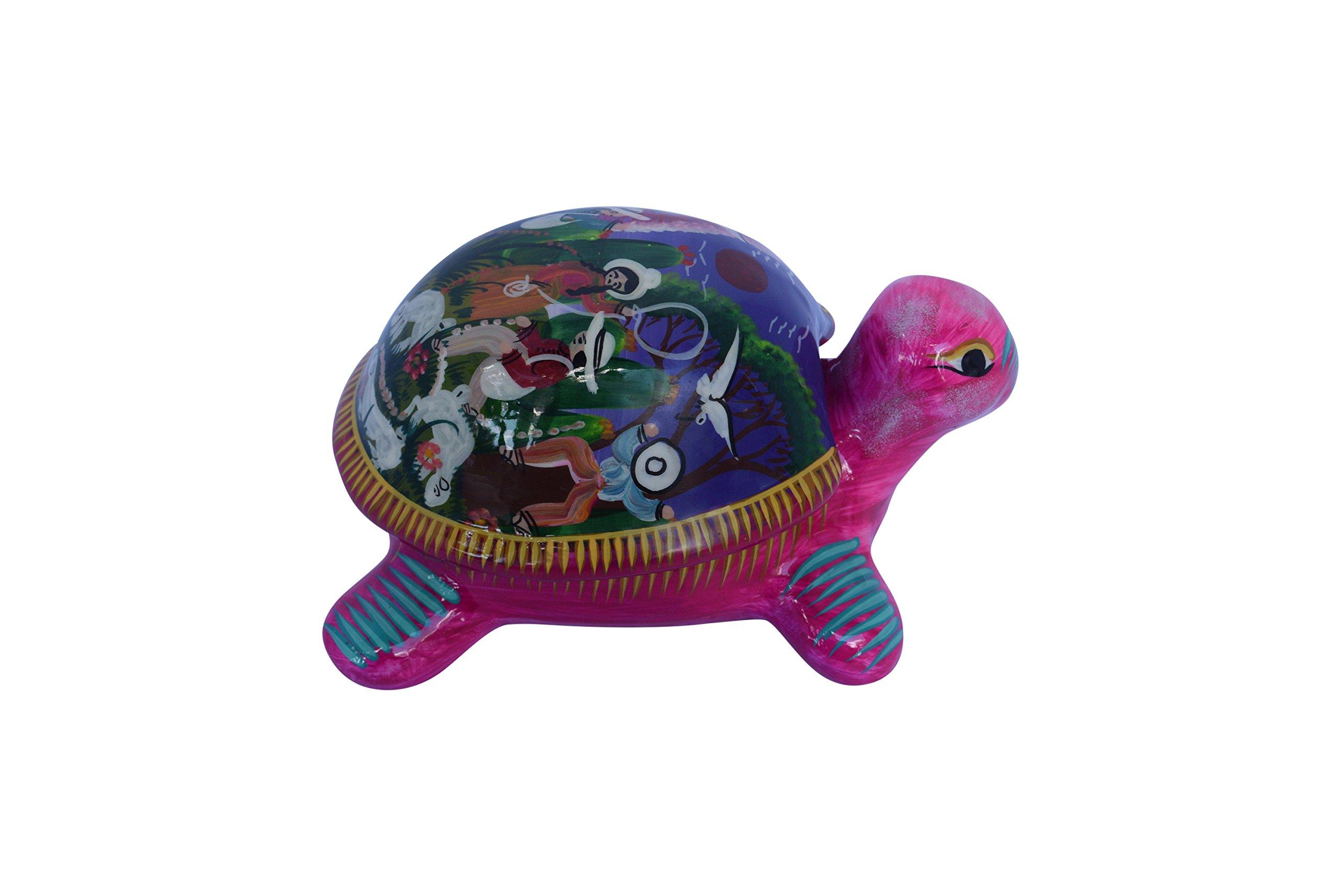Turtle Jewelry box Ceramic Decor Talavera Home Kitchen Patio Garden Pottery Animal Decoration