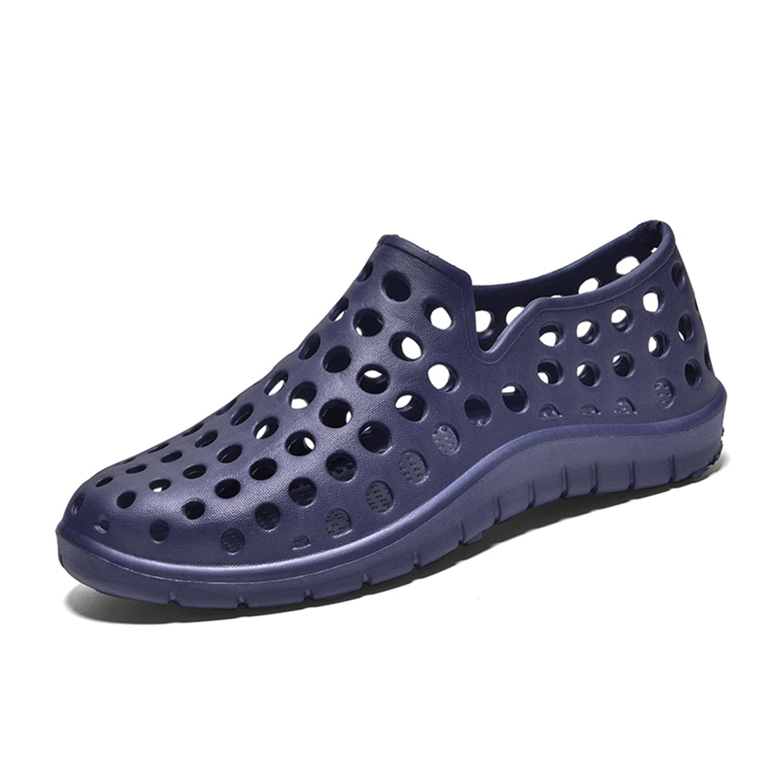 WAWEN Garden Shoes Mens Womens Non-Slip Sandals Lightweight Beach Breathable Drainage Fast Dry Summer Outdoor Blue 38