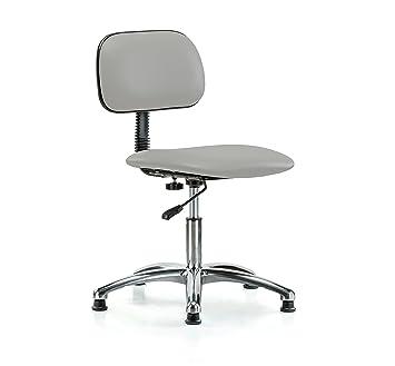 Perca cromo Rolling laboratorio médico silla con respaldo para Basic ajustable perfecto para oficina Escuela redacción