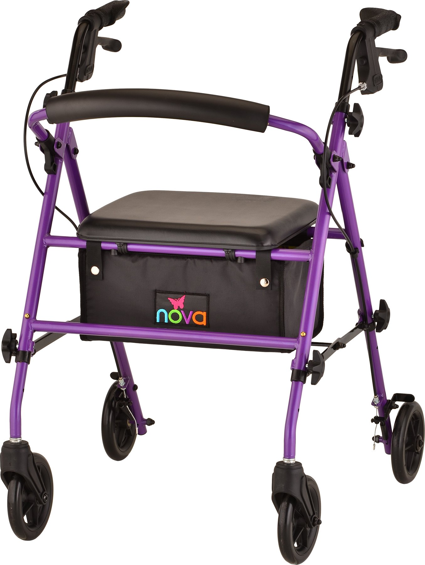 NOVA Journey Steel Rollator Walker, Purple